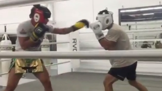 Watch Cris Cyborg Throw Down Hard With A Male Sparring Partner
