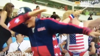 This Vine Star Got Caught Dabbing On Live TV At Every Olympic Event He Attended