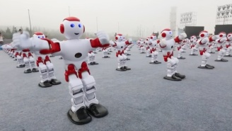 Let's Enjoy These Hundreds Of Dancing Robots Before They Go Berserk And Kill Us All