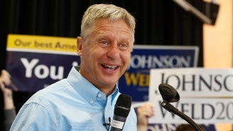 Hillary Clinton's Poll Numbers See A Boost After Gary Johnson's Self-Destructive Stretch Of Gaffes