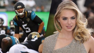 The Jaguars Are Now Incorporating Kate Upton Into Their Audible Calls During Preseason