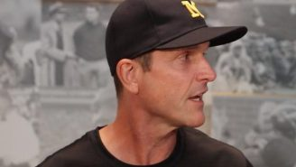 Jim Harbaugh Storms Off After Acting Like A Baby During A Press Conference