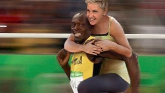 Ellen DeGeneres Responds To Claims That Her Usain Bolt Photoshop Is Racist