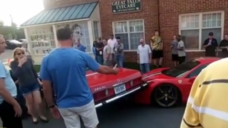 This Man's Reaction To Someone Backing Over His Rare $300K Ferrari Is Pretty Much What You'd Expect