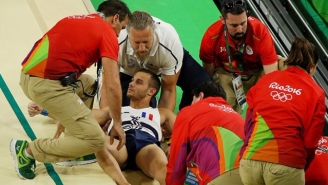 The French Gymnast Who Gruesomely Broke His Leg Was Dropped By Paramedics