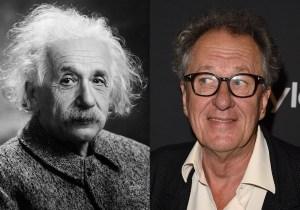 Geoffrey Rush will play Albert Einstein