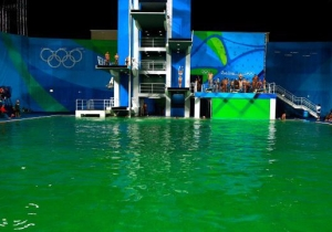 That Green Rio Olympic Diving Pool Now Apparently Smells Like Farts