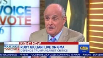 Rudy Giuliani Explains How Trump Didn't Say The Thing That Virtually Everyone Heard Him Say