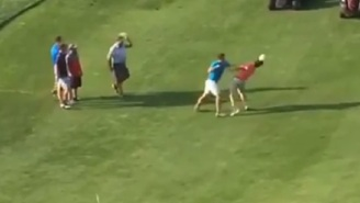 A Couple Of Golf Bros Dropped The Clubs For A Fist Fight On The Course