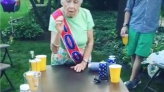 Watch This 100-Year-Old Grandma Win At Beer Pong And Prove That You're Only As Old As You Feel