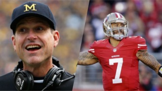 Jim Harbaugh 'Doesn't Respect' Colin Kaepernick's Decision To Sit During The National Anthem
