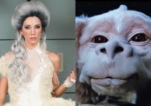 Your favorite luck dragon gets a couture transformation in this 'NeverEnding Story' dress