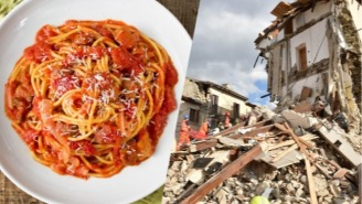 Italian Chefs Are Donating Money From Plates Of Pasta Amatriciana For Earthquake Victims