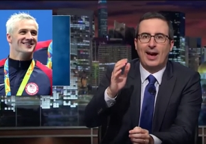 John Oliver Ruthlessly Mocked Ryan Lochte For Being 'America's Idiot Sea Cow'