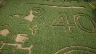 Jose Bautista's Bat Flip From The 2015 ALDS Inspired This Incredible Corn Maze