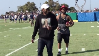 Kendrick Lamar And Schoolboy Q Prove They're Better Athletes Than Drake At Rams Training Camp