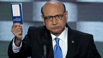 Khizr Khan Has Been Giving Away Copies Of The Constitution For A Long Time