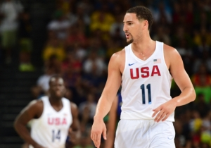 This Killer Catch-And-Shoot Klay Thompson Triple Really Summed Up His Huge Day For Team USA