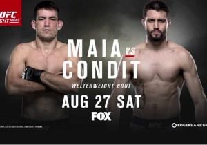 UFC On Fox 21 And Bellator 160 Live Discussion: Maia Vs. Condit And Henderson Vs. Pitbull
