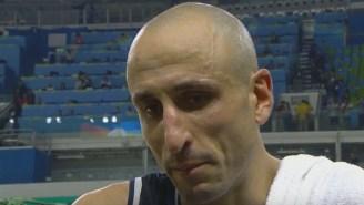 An Emotional Manu Ginobili Had To Cut An Interview Short After His Final International Game