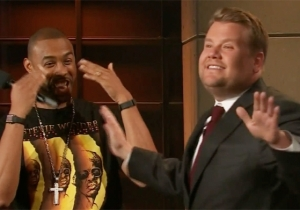 Montell Jordan Gives James Corden A 'This Is How We Do It' Birthday Surprise
