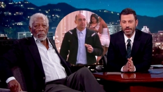 Morgan Freeman Proves His Voice Can Narrate Anything, Even A Random Person On The Street