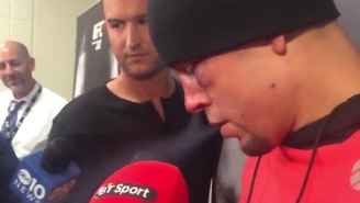 Nate Diaz Showed Up To The UFC 202 Presser Smoking A Weed Vape Pen