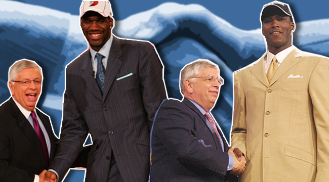 David Stern, Greg Oden, Kwame Brown - biggest nba draft busts