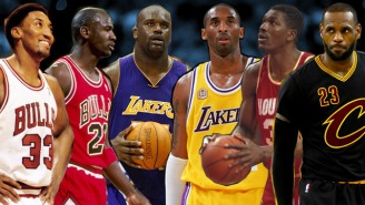 Who Would Win If Prime Jordan, Scottie And Olajuwon Battled Kobe, LeBron And Shaq?