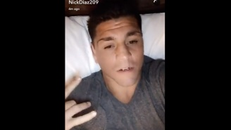 Nick Diaz Is Posting Crazy Snapchats And Refusing To Let USADA Agents Drug Test Him