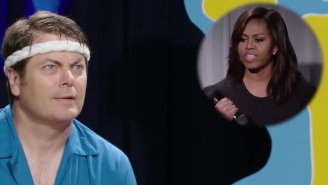 Nick Offerman And Michelle Obama Team Up To Teach Us The History Of Exercise