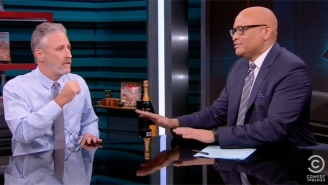 Jon Stewart Helps Send Off Larry Wilmore And 'The Nightly Show' With Some Touching Words Of Wisdom