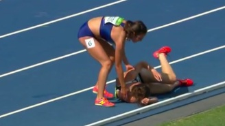 An American Runner Displays Incredible Sportsmanship By Helping A Fallen Competitor