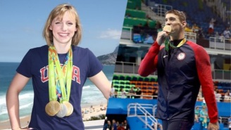 The Tables Are Turned As Michael Phelps And Katie Ledecky Recreate A Now Iconic Photo