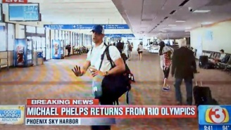 Michael Phelps Was In No Mood For Reporters As He Arrived Back In The United States
