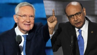 Senator Harry Reid And Khizr Khan Challenge Donald Trump To Take The Naturalization Test