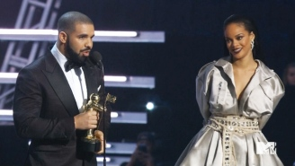 Drake Says He Loves Rihanna As He Presents Her With The Video Vanguard Award At The 2016 MTV VMAs