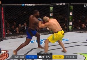 Rumble Johnson Knocked Out Glover Teixeira So Hard He Started Grappling With The Referee