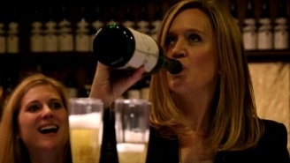 Samantha Bee Has Plenty Of Booze Left After Gifting Larry Wilmore With A Few Extra Bottles Of Wine