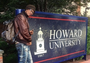 Nick Cannon Proudly Showcases His Freshman Status At Howard