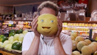 Seth Rogen Pranks Innocent Grocery Shoppers With Talking Fruit To Promote 'Sausage Party'