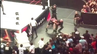 Here's The Clip Of That Crazy Fan Who Tried To Attack Seth Rollins On Monday Night Raw