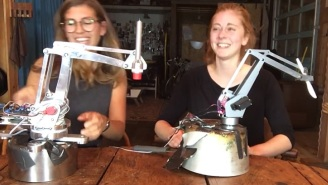Simone Giertz's Newest Terrible Robot Makes Terrible Sandwiches
