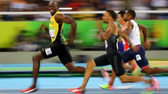It Must Be So Frustrating Running Against A Smiling Usain Bolt