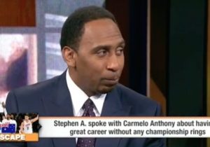 Stephen A. Smith Threw ESPN's Reporter Under The Bus For Those Carmelo Anthony Title Comments