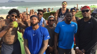 Team USA Hilariously Tried Their Hand At Beach Volleyball After Cheering On The Women's Team