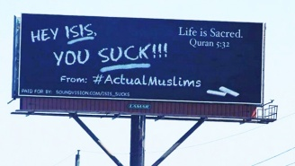This Billboard Rented By American Muslims Sends A Very Clear Message To ISIS