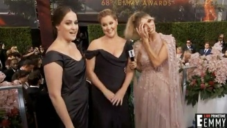 Amy Schumer Once Again Kept Red Carpet Censors On Their Toes At The 2016 Emmy Awards