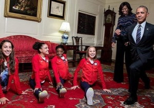 President Obama Tried And Failed To Do The Splits With The Final Five