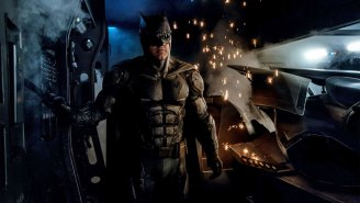 Batman wears sunglasses at night in his 'Justice League' costume – She Said/She Said